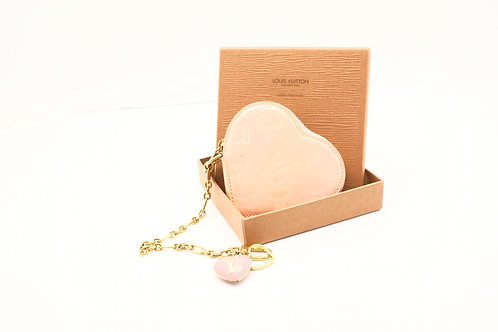 Louis Vuitton Heart Coin Case Pink