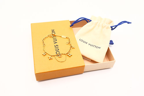 Louis Vuitton Bracelet Blooming Gold Tone Flower