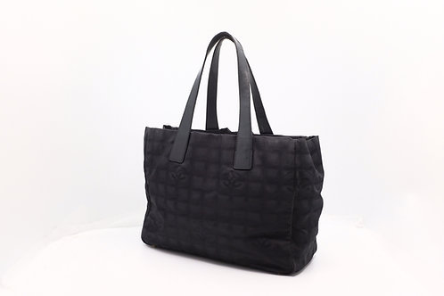 Chanel New Travel MM Tote Bag Nylon Black