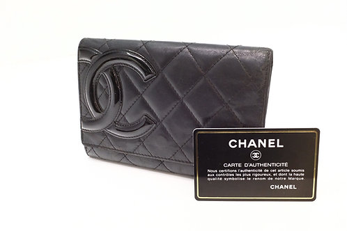 Chanel Cambon Wallet in Black Leather
