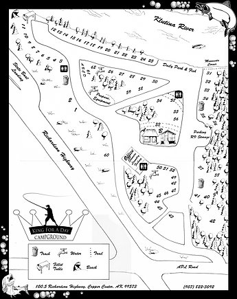King For A Day Campground Map