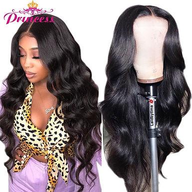 HD Transparent Lace Front Human Hair Wigs PrePlucked 13x6 180% Brazilian Body W