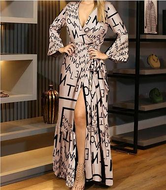 2021 Spring Autumn Women Dresses Long Sleeve Maxi Vestidos Casual Dress Beach P