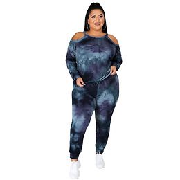 5xl Plus Size Clothing for Women Off Shoulder Long Sleeve Top and Pants Sets