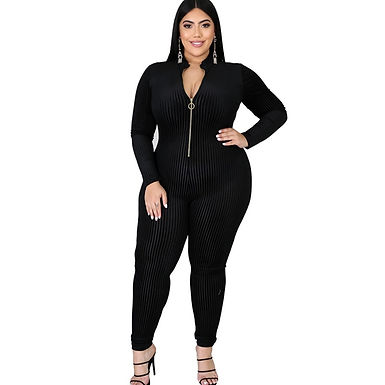 Fall Clothes for Women Long Sleeve Jumpsuit High Waist Sexy Black Jumpsuit Rompe