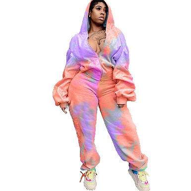Plus Size Clothing 2 Piece Set Women Sweatsuit Long Sleeve Top Set Sweatpants