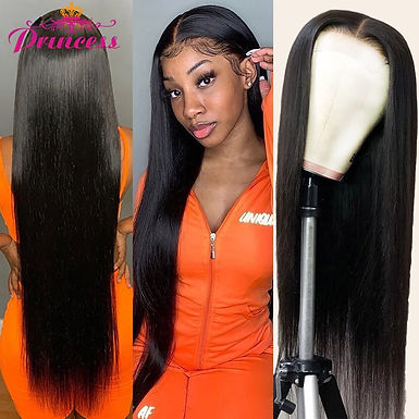 Princess 13x4/13x6 Lace Front Human Hair Wigs PrePlucked 4x4 Closure Wig 8-34