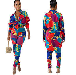 FruitLoops Tracksuit Full Sleeve National Print Shirt Pencil Top and Pants