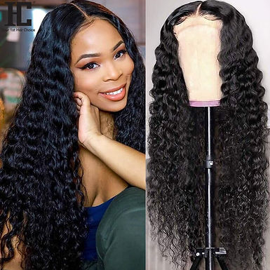 Brazilian Deep Wave Curly Wig 13x4 Lace Front Human Hair Wigs Pre Plucked