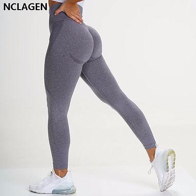 Seamless Knitting Yoga Pants Butt Lifting Sexy Woman Gym Squat Proof