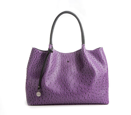 Naomi - Purple Vegan Leather Tote Bag