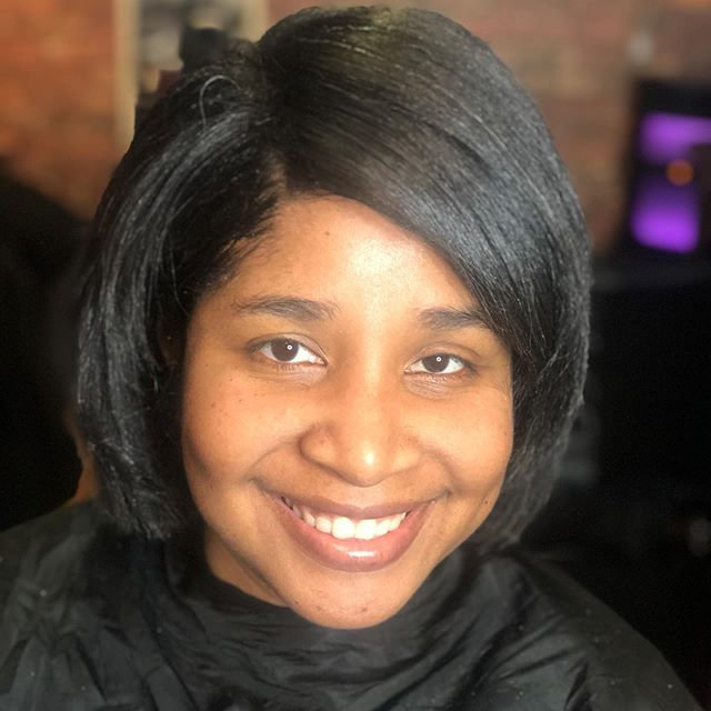 Wash Blow dry & curl on relaxed hair $45