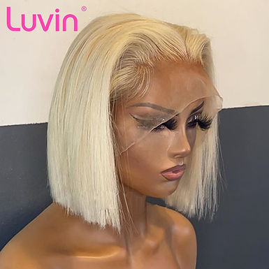 Luvin Transparent 613 Blonde Lace Front Wigs for Black Women Remy Straight Brazi