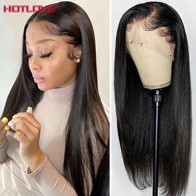 13x4 Lace Front Human Hair Wigs for Black Women 150% Density Brazilian Straight