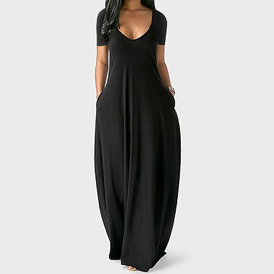Plus Size 5xl Sexy Women Dress Summer 2021 Solid Casual Sleeveless Maxi Dress
