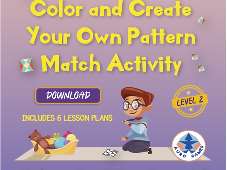 Level 2 - Color and Create Your Own Pattern Match Activity