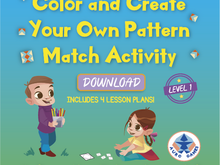 Level 1 - Color and Create Your Own Pattern Match Activity