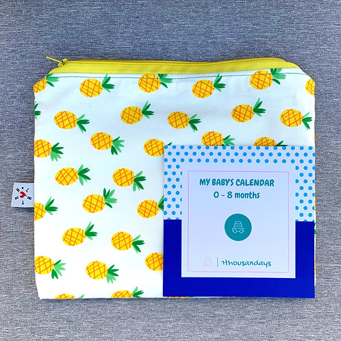 Pineapple zip pouch