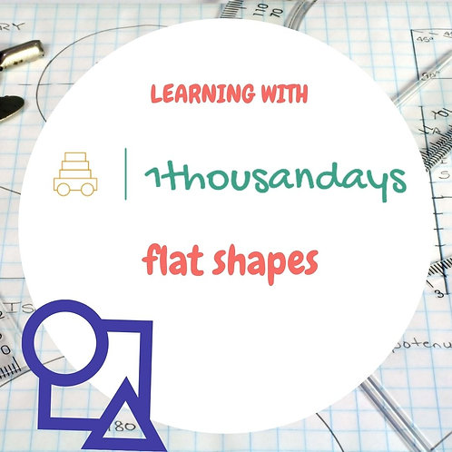 Flat Shapes (suited for ages 2 - 3.5)
