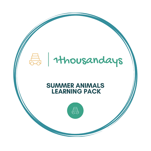Summer Animals Learning Pack (suited for ages 4-5)
