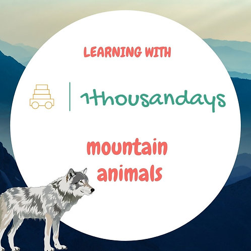 Mountain Animals (suited for ages 4-5)