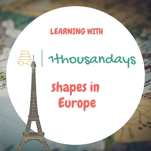 Shapes in Europe (suited for ages 4.5 - 6)