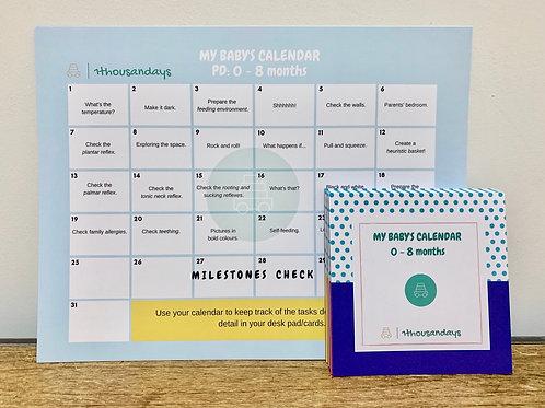 Polka Dots Cards with A4 Calendar