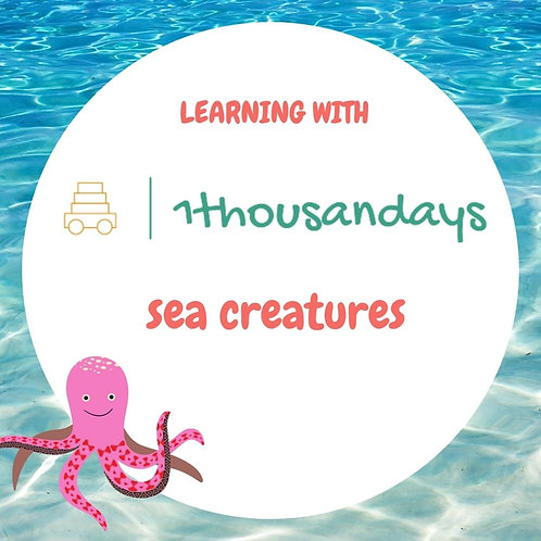 Sea Creatures (suited for ages 4-5)