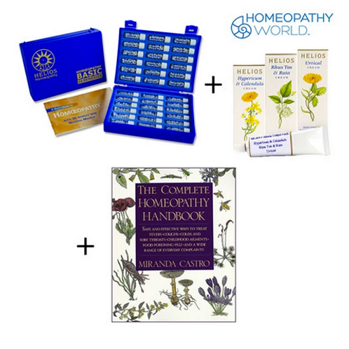Homeopathic Deluxe Remedy Kit, 3 Creams and Handbook - Trio Pack