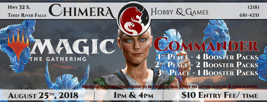 MtG – Commander Saturday & Dice Restock
