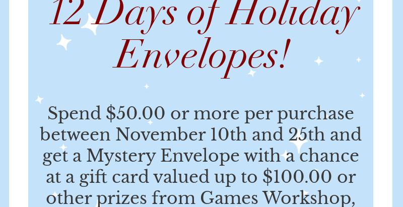 12 Days of Holiday Envelopes!