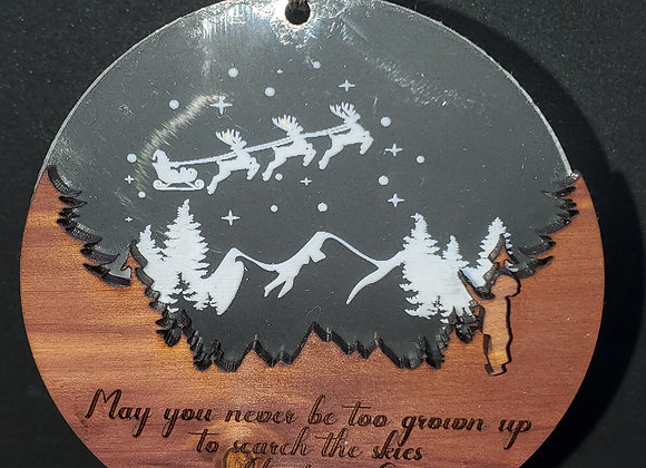 Christmas Ornament Look Towards the Skies