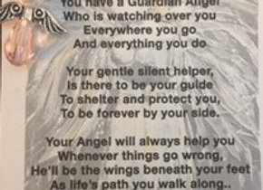 Guardian Angel with Poem