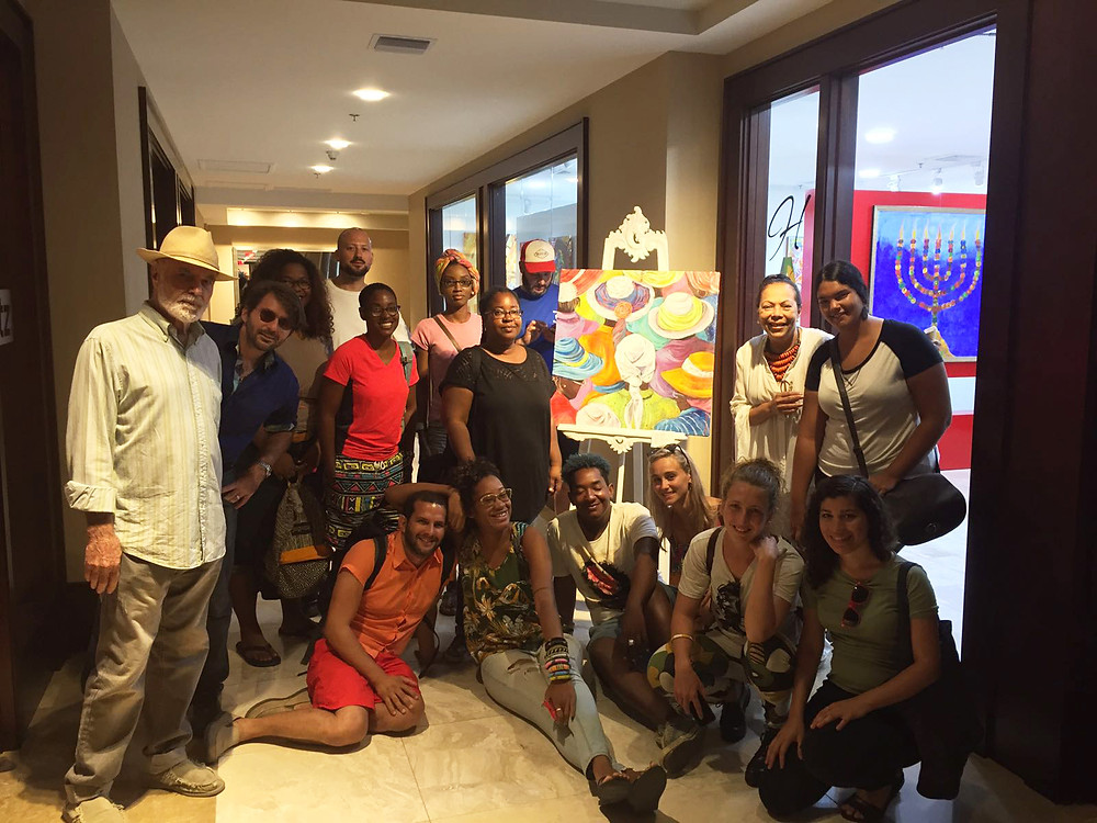 Participants of Caribbean Linked IV at the H'Art Gallery of the Ritz Carlton