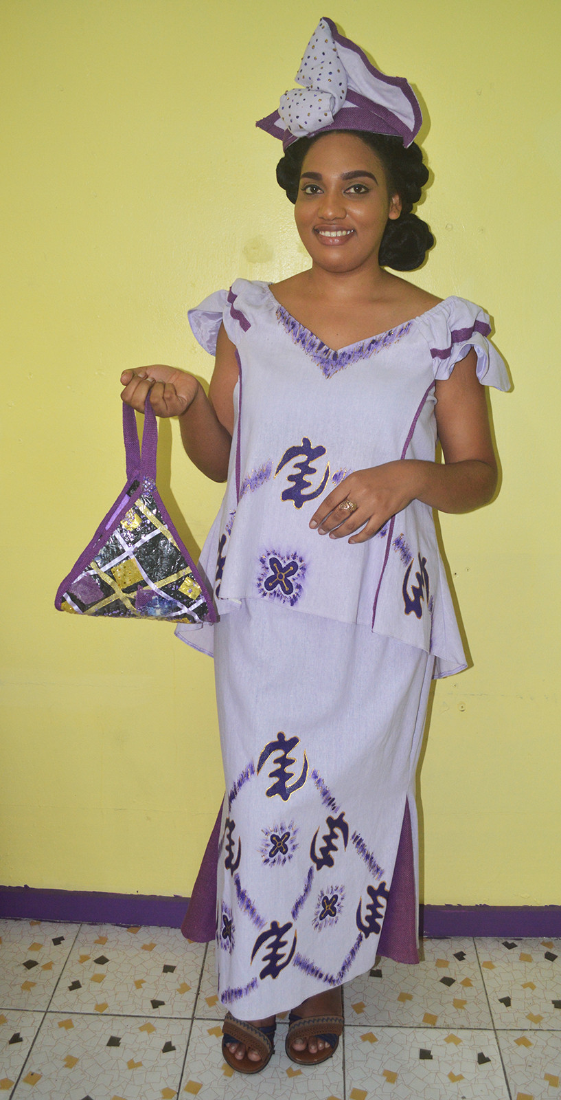 A complete ensemble designed and made by Merleen Forde