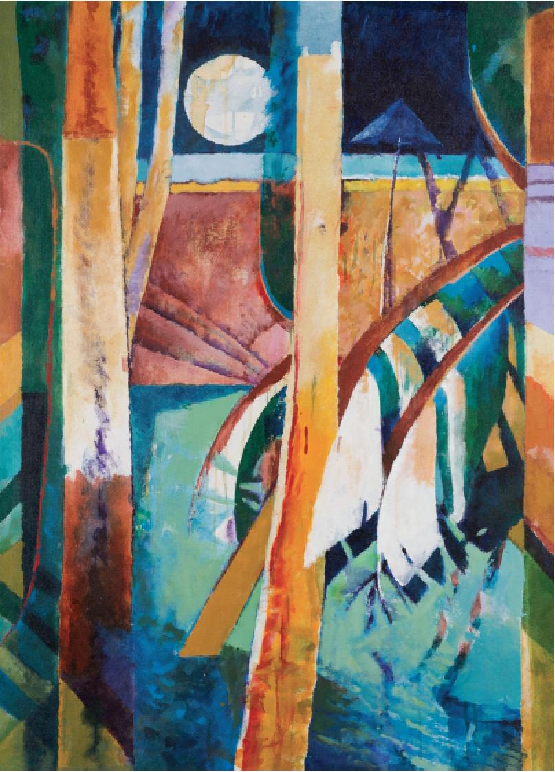 "Alison Chapman-Andrews, Returning Rainy Season 2, 2013. Acrylic on canvas, 42""x34"""