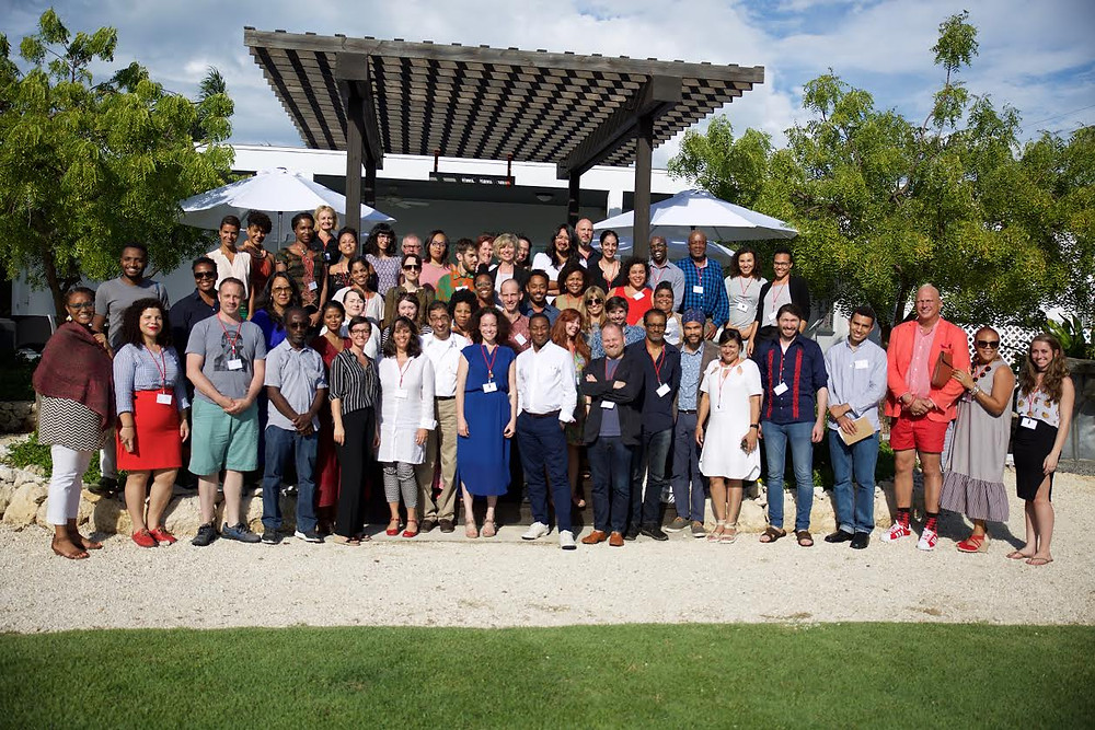 Members of the delegation in this year's Tilting Axis 3 conference hosted by the National Gallery of the Cayman Islands. Photo by Roy Wallace.