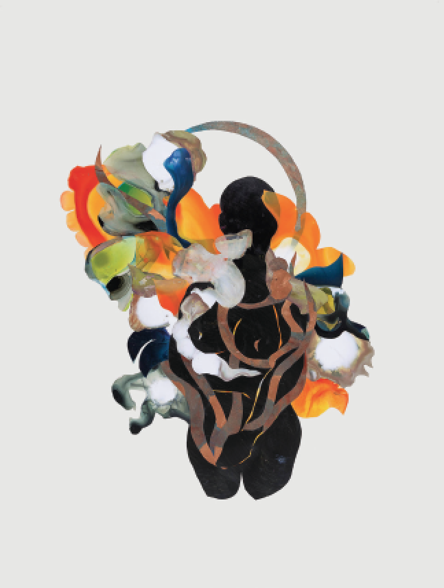 "Llanor Alleyne, Lisha, 2016. Collage on paper, 12""x16"""