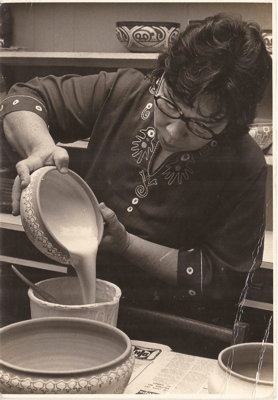 The late Stephanie Correia at work in her studio circa 1989. All photographs courtesy her daughter, Anna Correia-Bevaun