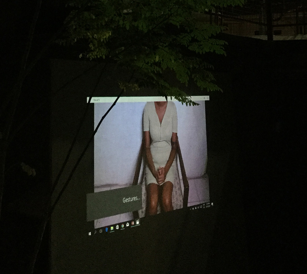 A still from Shanice Smith's one-minute video titled Gestures