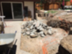 Another Sacramento Junk Removal job by M&D Hauling. This is a patio removal project (before)