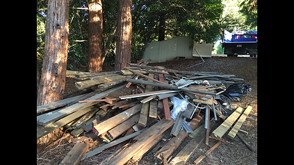 Another Sacramento Junk Removal job by M&D Hauling. This is a deck removal project (before)