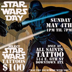 MAY THE FOURTH ALL SAINTS TATTOO