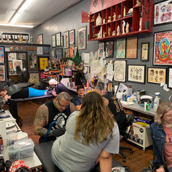 Interior of All Saints Tattoo Downtown Location
