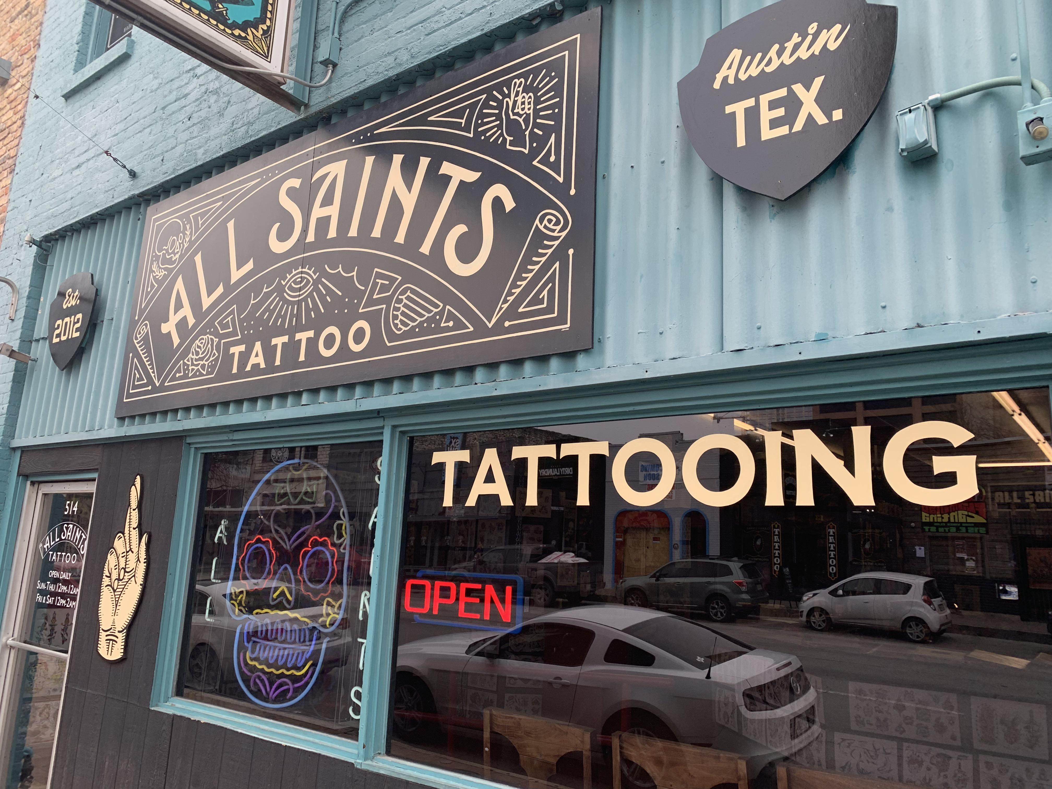 All Saints Tattoo - 6th Street Downtown Austin Texas Tattoos