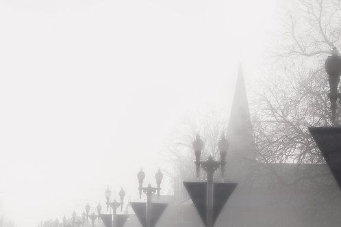 Fog rolling down George Street - Bathurst, NSW