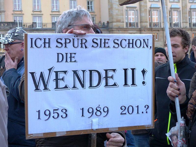 Wende Ostdeutschland East Germany Protest Pegida