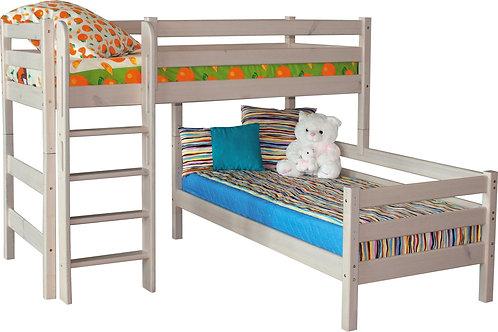 """Угловая кровать """"Соня"""" с прямой лестницей"""