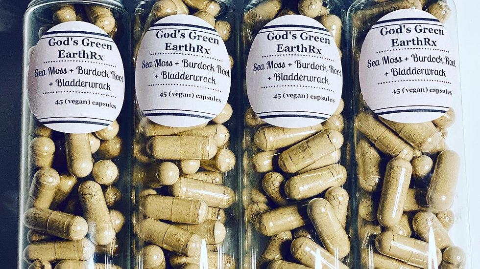 Sea Moss + Burdock Root + Bladderwrack (vegan) capsules