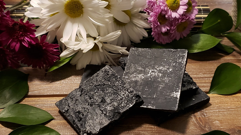 Raw Activated Charcoal (unscented) soap bar (Vegan)